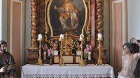 Oltář v kapli sv. Eustacha