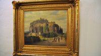 Skalní hrad Sloup na obraze v muzeu v České Lípě