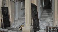 Probíhající rekonstrukce svatých schodů