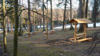 Dětský areál v lázeňském parku