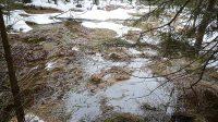 20. 2. 2019 - zatopené louky pod vodopádem