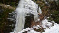 Ledová stěna nad Sýrovým potokem