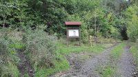 26. 9. 2014 - infotabule u odbočky do lesa