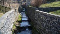 Šenovský potok - průtok parčíkem