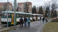 Tram č. 11 na konečné v Jablonci