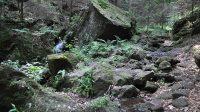 Stoupání podél Klopotského potoka