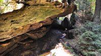 Sestup skalami na Mezní můstek