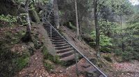 Stoupání ke skalní průrvě Bärenhöhle