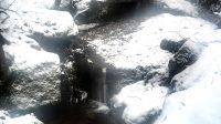 Spodní přepad druhého vodopádu přes skalní masiv