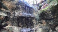 První vodopád na západní větvi Kamenného potoka