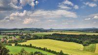 Výhled na stolové hory v Sasku