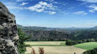 Výhled nad kaňonem Labe do Čech