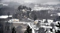 Skalní hrad a poustevna Sloup 12. 1. 2021