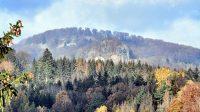 Výhled na Zlatý vrch a Studenec 5. 11. 2020