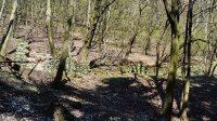 26. 4. 2021 - pohled na mlýn z koryta potoka