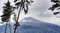 19. 1. 2021 - Ralsko, pohled z lesů mezi Velkou Bukovou a Kalištěm